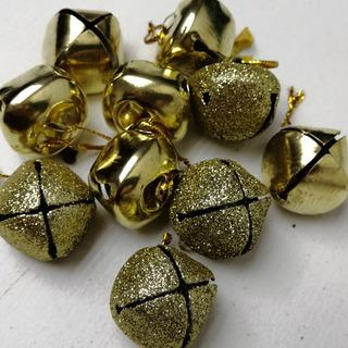 10 Cascabeles Para Decoración De Navidad Adornos