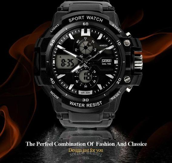 Relógio Skmei 0990 Double Militar Led Digital Esportivo