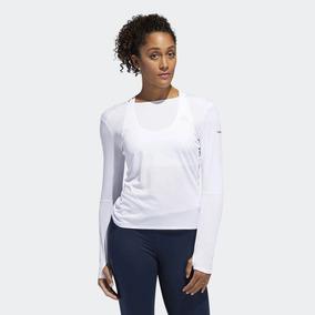 92db2915f Camiseta Feminina Manga Longa adidas Performance Running. São Paulo ·  Camiseta adidas Run Manga Longa Branca