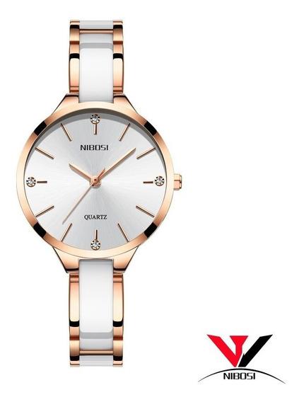 Relógio Feminino De Luxo À Prova D Água Com Cerâmica Import