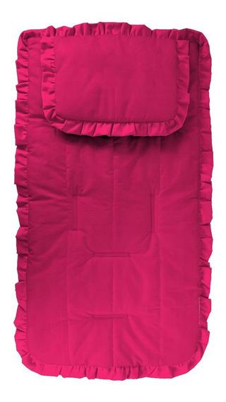 Capa Carrinho De Bebe Pink Com Travesseiro Fofinho Enxoval