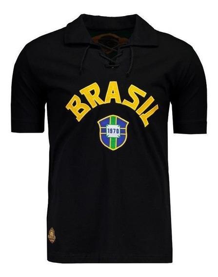 Camisa Brasil Goleiro Retrô 1970