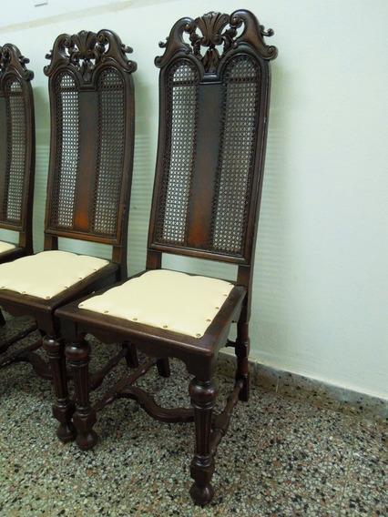 Juego 4 Sillas Inglesas Altas Bronceria Mesa Comedor Sala Excelentes.