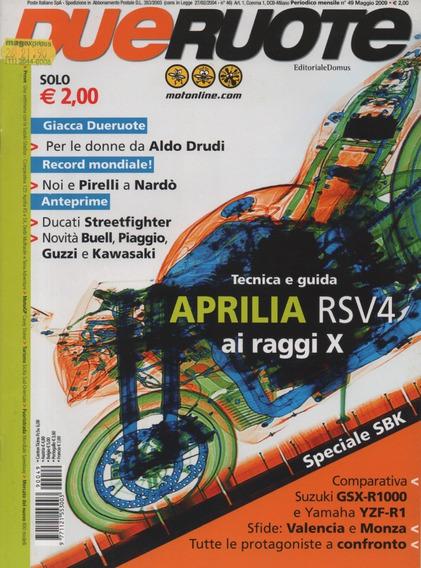 Dueruote N°49 Aprilia Rsv4 Suzuki Gsx-r 1000 Yamaha Yzf-r1