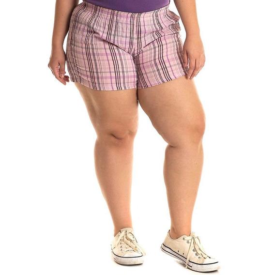 Short Tecido Plus Size 51923