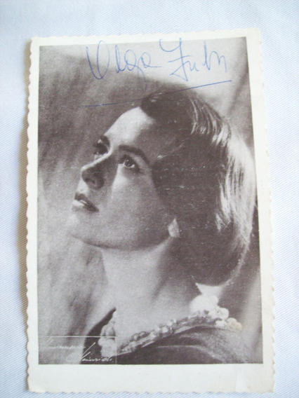 Tarjeta Postal Vintage *olga Zubarry* Firmada