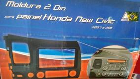 Moldura Painel Honda Civic,para 1 Din E 2 Din