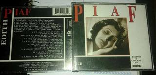 Cd Duplo Raro Único Edith Piaf En Concert Documents Inedts