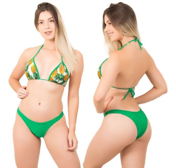 Biquíni Feminino Cortininha Panicat Verão 2019 Moda Praia