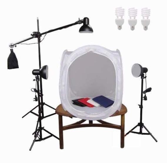 Kit Still C/ Iluminação - Mini Studio Fotográfico 80x80