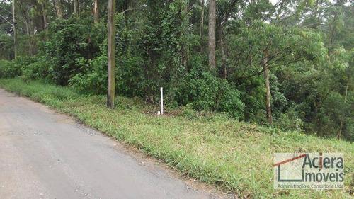Cotia  Recanto Verde  Excelente Terreno A 500m Da Rod.raposo Tavares, Com Linda Vista E Fundo Para Área Verde - Te0578