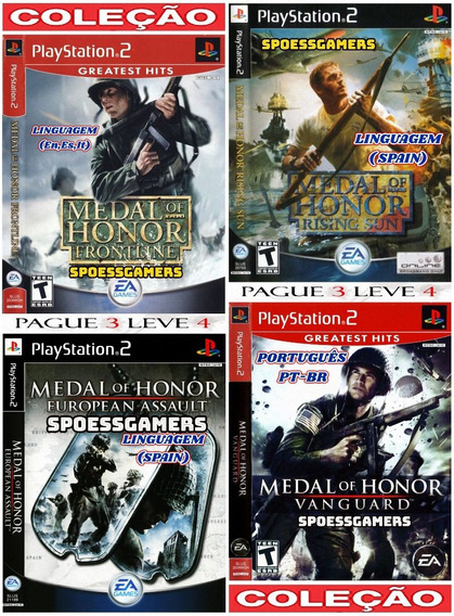 Medal Of Honor Ps2 Coleção (4 Dvds) Patch - Spain Me