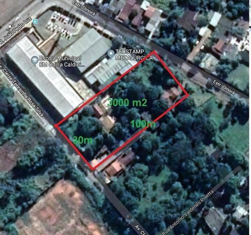 Chácar Venda, 3000 (30 X 100) M² Por R$ 900.000 - Recreio Dos Sorocabanos - Sorocaba/sp - Ar0010