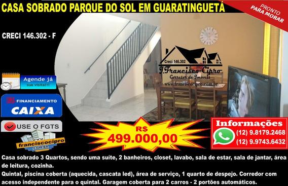 Casa A Venda No Bairro Parque Do Sol Em Guaratinguetá - Sp. - Cs311-1