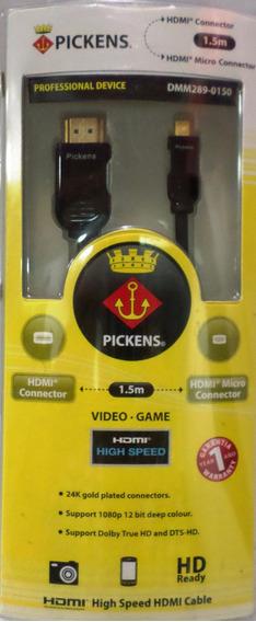 Cable Pickens Hdmi A Micro Hdmi De 1,5 Metros Dmm289-0150