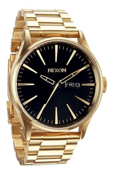 Reloj Nixon Sentry Ss Acero Inoxidable Oro A356-510 Garantia