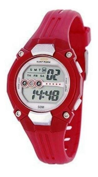 Relógio Digital Feminino Surf More Kids Vermelho 6550491f Vm