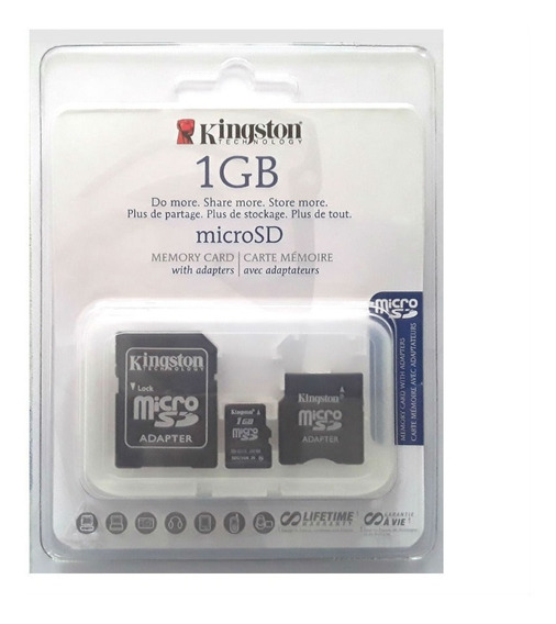 Cartão Micro Sd 1gb Tf + Adaptador Sd + Adaptador Mini Sd