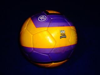 Balon Total 90 Amarillo Morado De Juego Pelota Match