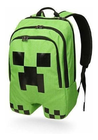 Mochila Minecraft Creeper Oficial 100% Original Imperdible!!