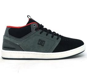Tênis Dc Shoes Cole Signature Mid Couro Preto E Vermelho