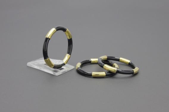 |626| Anéis Em Ouro Amarelo 18k Com Esmalte