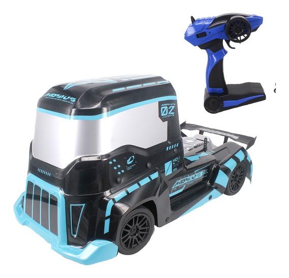 Caminhão Carrinho Carro Controle Remoto Formula Truck Azul