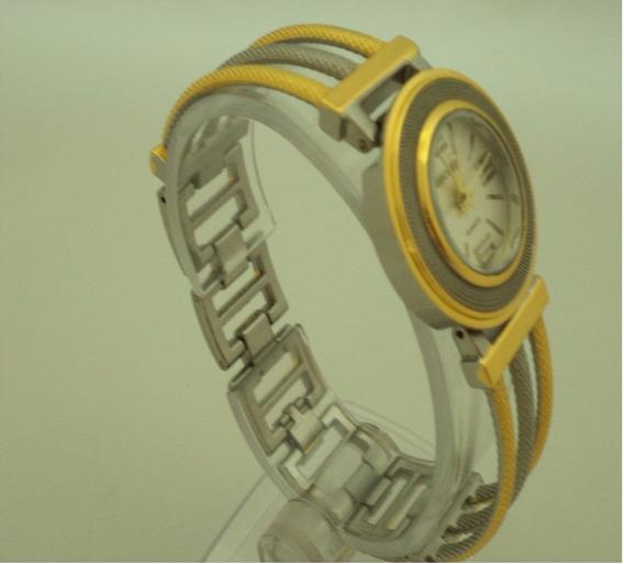 Relógio P. Feminino Mryes Pulseira Aço Inox. Cor Prata/ouro