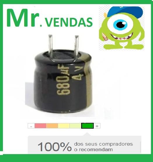 20x Capacitor Eletrolítico 680uf 4v 105º Pronta Entrega