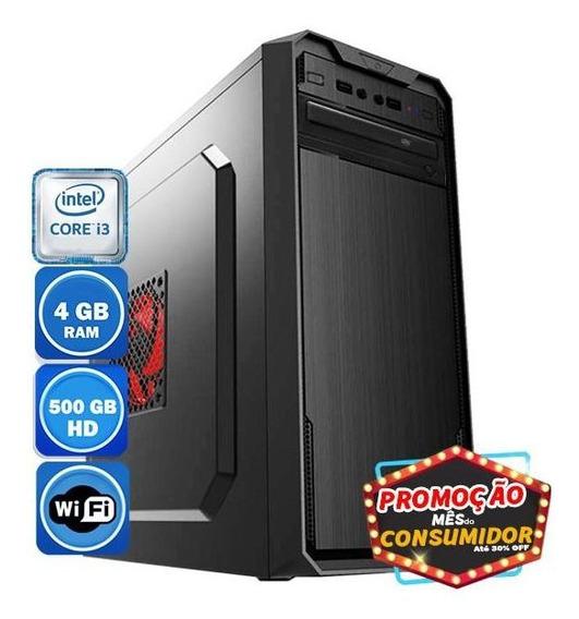 Pc Intel Core I3 4gb Hd 500gb Wi-fi
