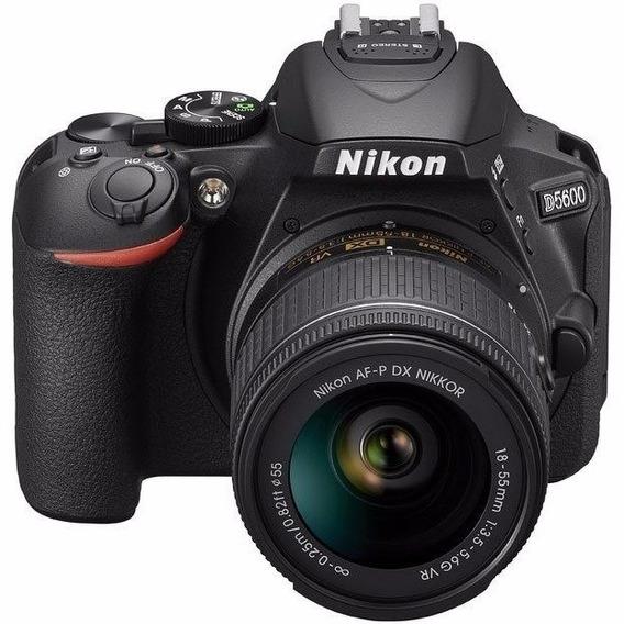 Nikon D5600+af-p Dx 18-55mm +64gb+bolsa+tripé S/j