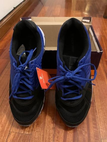Zapatillas Deportivas Azul Y Negro