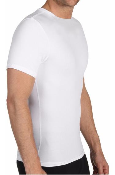 Camiseta Moldea Reduce Hombre Perfect Shape Man Playera Blco