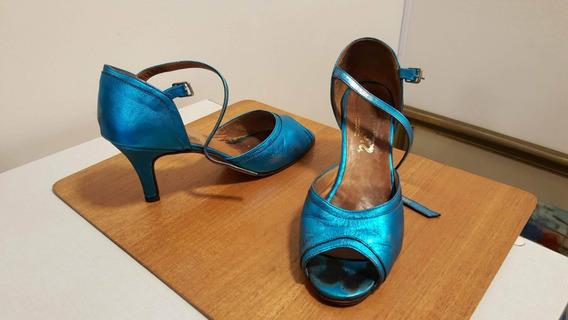 Zapatos De Tango Dama Usados. Muy Buen Estado. 38/39 Taco 7