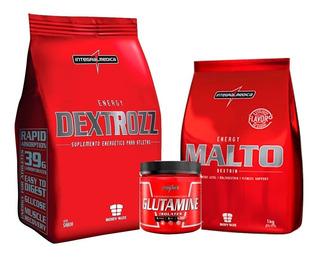 Kit Dextrose + Maltodextrin + Glutamina 150gr - Integralmedi