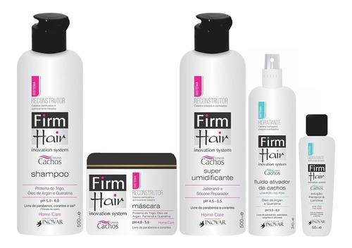 Imagem 1 de 1 de Kit Reconstrução Cachos Firm Hair 5 Produtos