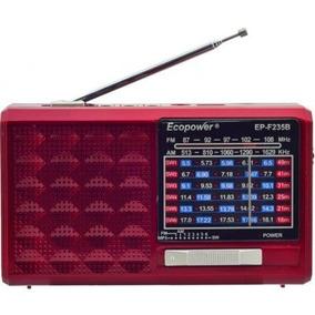 Radio Portátil Am/fm/sw/usb/sd/bluetooth Ecopower Ep-f235b