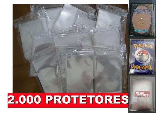 2000 Sleeves Shields Protetores Cards Pokemon Tcg Magic Mtg.