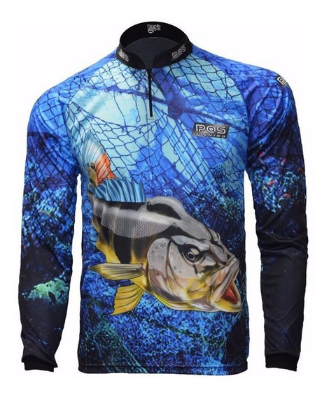 Camiseta De Pesca Ref 30 Proteção Uv 50+ Premium Raglan
