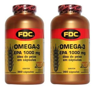 Omega 3 Fdc Importado (2 Potes) 720 Caps Óleo De Peixe Epa
