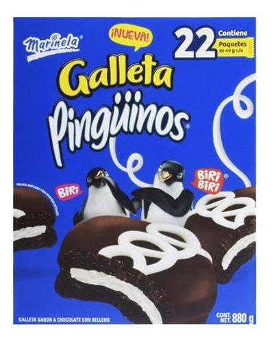 Imagen 1 de 4 de Galletas Pingüinos Marinela® 22 Piezas De 40 Gr Cada Una