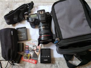 Canon Eos 7d Mark Ii Con Lentes 18-35 & 70-300mm Usada