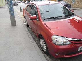 Toyota Etios Xls Sedam 2015 Vermelho Completo + Couro