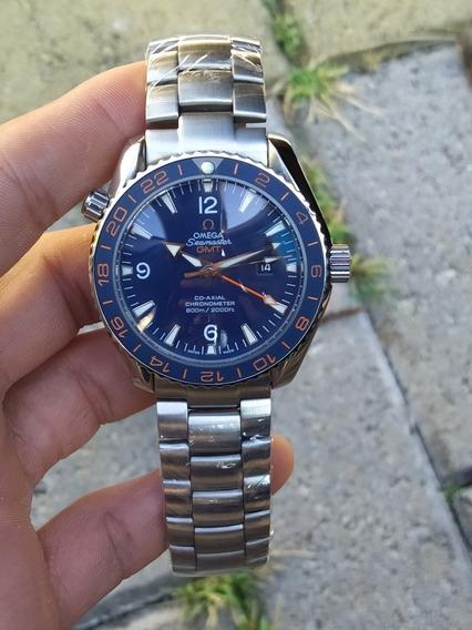 Relógio Omega Seamaster Gmt Aro Cerâmica Fosco/ Automático