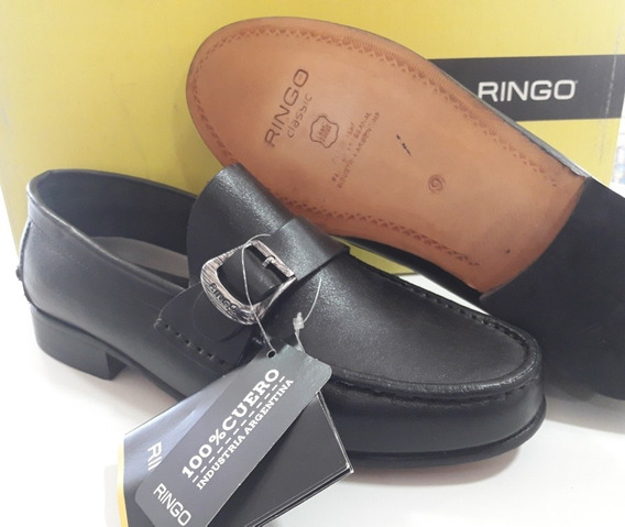 Zapato Mocasin Cuero