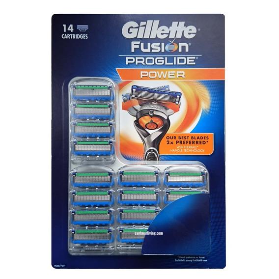 Gillette Fusion Proglide 14 Cartuchos (5 Lâminas)