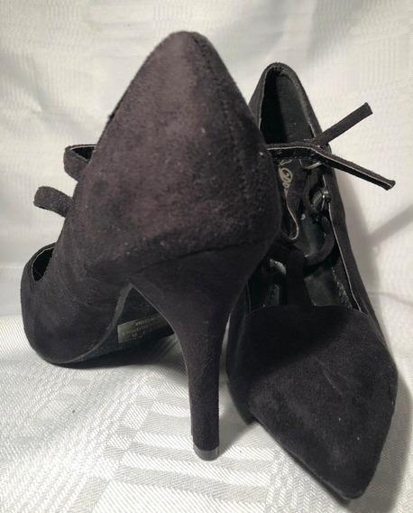 Zapatos De Gamuza Con Taco Negros Baile