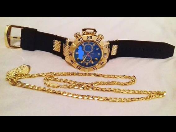 Relógio Masculino De Luxo Mais Corrente Cartier Oferta