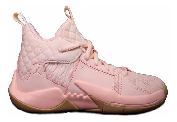 Tenis Nike Jordan Why Not Zero 2.0 Rosa Talla 20cm