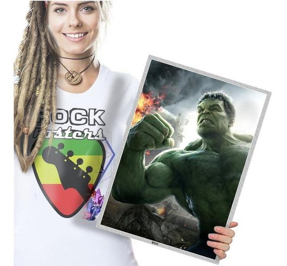 O Incrivel Hulk Festa Painel Parede Infantil 4 Peças Tam. A3